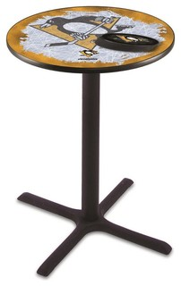 "Cross Bar Pittsburgh Penguins Pub Table 28""x36"""