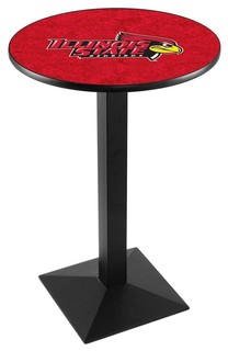 "Modern Illinois State Redbirds Game Room Table Black Wrinkle 36""x36"""