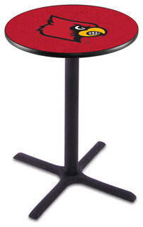 "Classic Black Base Louisville Cardinals Pub Table 36""x36"""