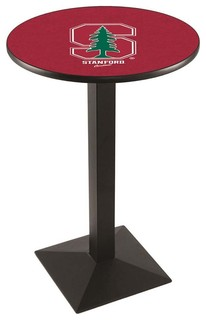 "Modern Stanford Cardinals Game Room Table Black Wrinkle 28""x42"""
