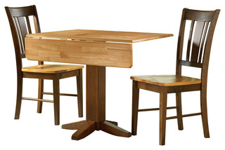 International Concepts 3-Piece Dinette Set Cinnamon and Espresso