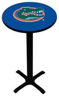 Blue Florida Gators Pedestal Pub Table With Black Base
