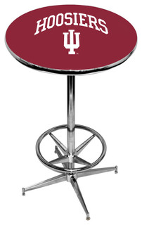 Indiana Hoosiers Crimson Pub Table With Chrome Foot Ring Base