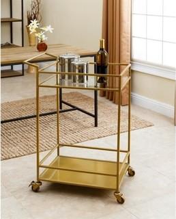 Abbyson Living Kitchen Cart Gold