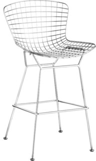 Chrome Wire Bar Chair Set of 2