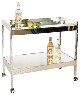 Roland Bar Cart-Nickel