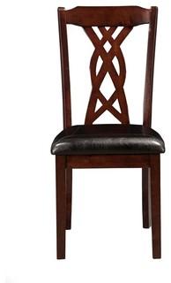Alpine Furniture Provo Side Chairs Dark Cherry