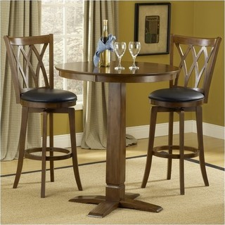 Hawthorne Collections 3-Piece Pub Table Set With Stools Brown