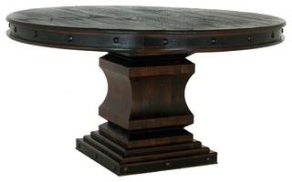 Old world Rustic Gran Hacienda Round Pedestal Table
