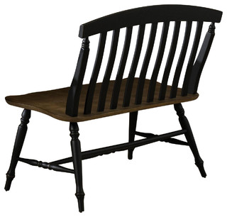 Liberty Furniture Al Fresco Slat Back Bench Driftwood/Black