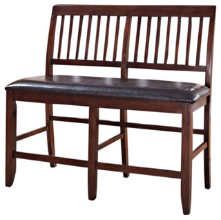 New Classic Furniture Kaylee Counter Bench Tudor Brown