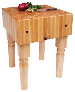 "John Boos AB 10"" Maple Butcher Block Table/Island Natural Maple"