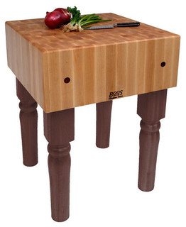 "John Boos AB 10"" Maple Butcher Block Table/Island Walnut Stain"