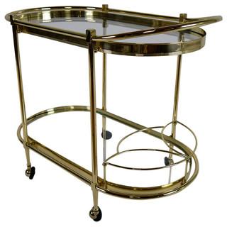 Consigned Vintage Italian Regency-Style Oval Tea Cart