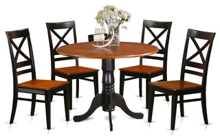 Douglas Dining Table Set 5 Pieces Black and Cherry