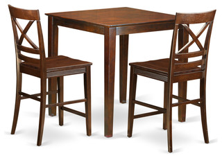 Riley Dining Table Set 3 Pieces Mahogany