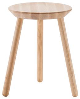 Naïve Natural Ash Wooden Short Stool