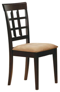 Wheat Back Side Chair With Fabric Seat Set of 2