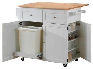 Coaster Kitchen Cart Natural Brown/White Finish 900558