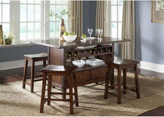 Liberty Furniture Cabin Fever Counter Height Dining Table Brown