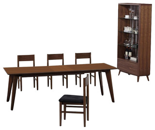 Anthrop Dining Set Dining Table 4 Chairs Display Cabinet