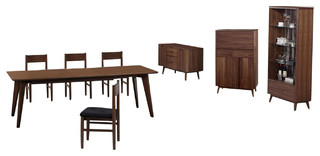 Anthrop Dining SetDining Table 4Chairs Sideboard Buffet Display Cabinet