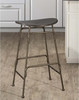 """Hillsdale Mitchell 26.5"""" Backless Counter Stool Black"""