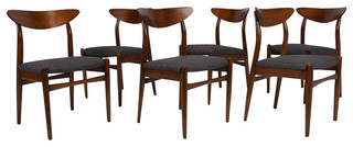 Consigned Danish Mid-Century Modern-style Dining Chairs Set of 6