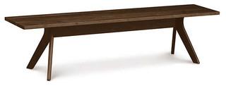 Audrey 60 Bench in Walnut by Copeland Furniture Natural Walnut