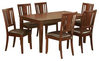 Cadu7-Mah-Lc Capri Dining Set