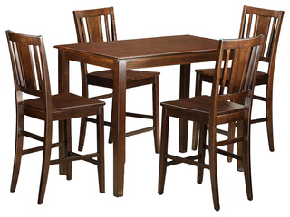 Yarmouth 5-Piecesolid Wood Dining Set Mahogany