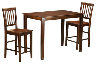 Yarmouth 3-Piecesolid Wood Dining Set Mahogany
