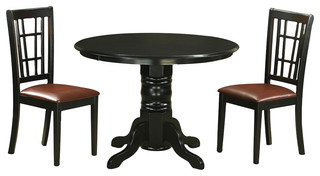 3-Piece Solid Wood Dining Set