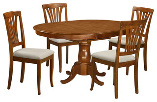 5-Piece Solid Wood Dining Set