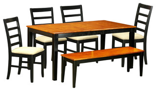 6-Piece Solid Wood Dining Set