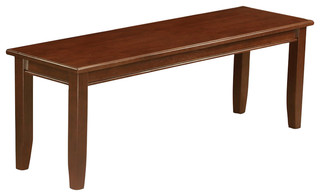 Dub-Mah-W Dudley Dining Bench With Wood Seat Mahogany