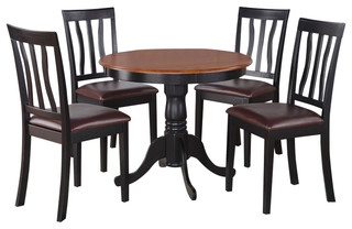 Anti5-Blk-Lc Antique Dining Set