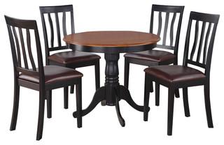 Anti5-Blk-Lc Antique Dining Set