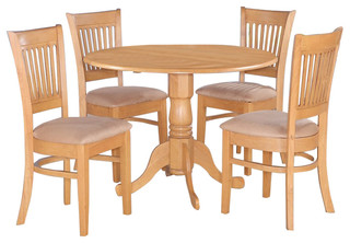 Dlva5-Oak-C Dublin Dining Set