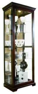 Beaumont Lane Curio Cabinet Chocolate Cherry