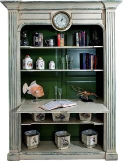 Display Cabinet David Michael Rustic Fluted