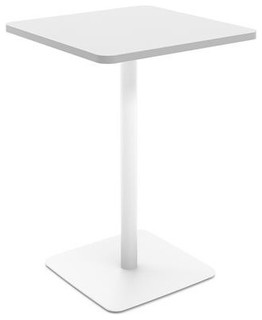 Turnstone Simple Square Stand-Up Table Arctic White Arctic White Base