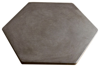 "Concrete Lazy Susan Hexagon 18"" Dark Gray"