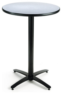 KFI Seating 36in Round Pedestal Table with Arched X Base