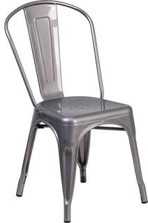 Clear Metal Indoor Chair