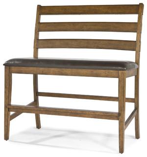Intercon Furniture Santa Clara Ladder Back Bench Brandy ST-BS-889CB-BDY-K24