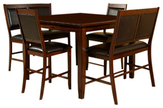 Meredy 5-Piece Counter Dining Set Brown D395-323