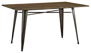 """Alacrity 59"""" Rectangle Wood Dining Table Brown"""