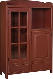 Samuels Pottery Pantry Red Finish