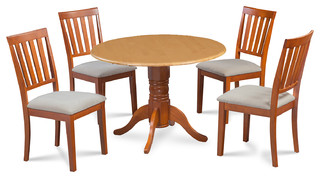 "42"" Burlington Dinette Dining Set Soft-Padded Seat Chairs 5 Piece Set"